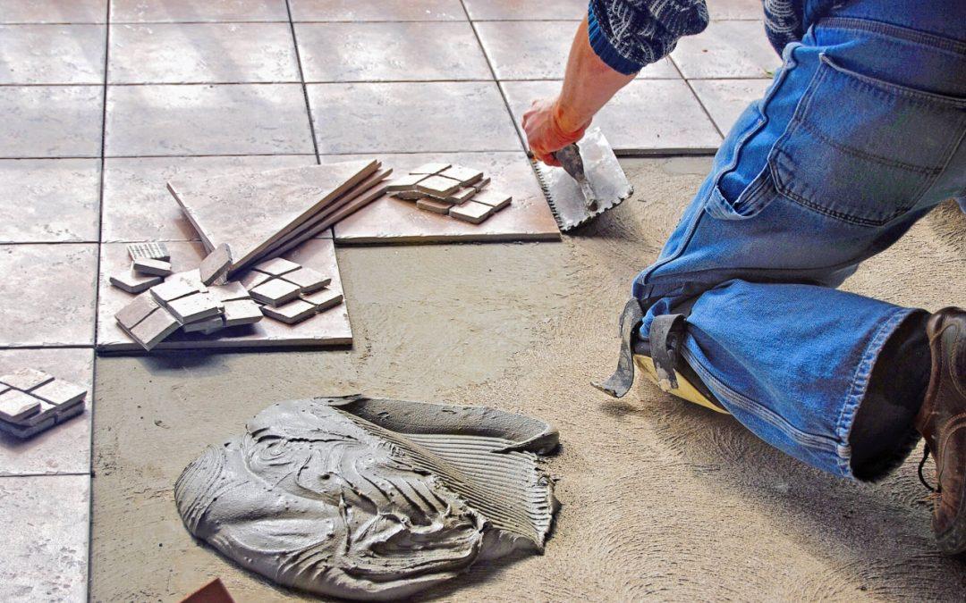 types of flooring materials include ceramic tile